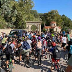 """Επιτυχημένη η """"Οικολογική και ασφαλής ποδηλατική διαδρομή"""" στον Πλατανιά"""