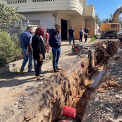Επίσκεψη κλιμακίου του δήμου Χανίων σε αντιπλημμυρικό έργο στις Μουρνιές